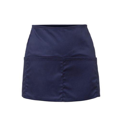 Delantal de 32 cm de largo x 60 cm de ancho con cintas del mismo color del tejido. Con un bolsillo partido en quatro y acabado en forma de media luna. #delantal #cuatro #bolsillos #uniforme #camarera #camarero