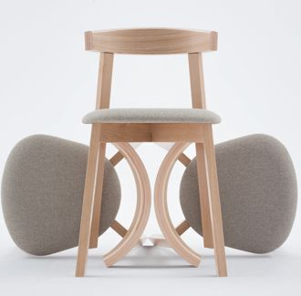 Uxi Chair | Furniture Options. Made in Poland, stackable European beech timber dining chair.