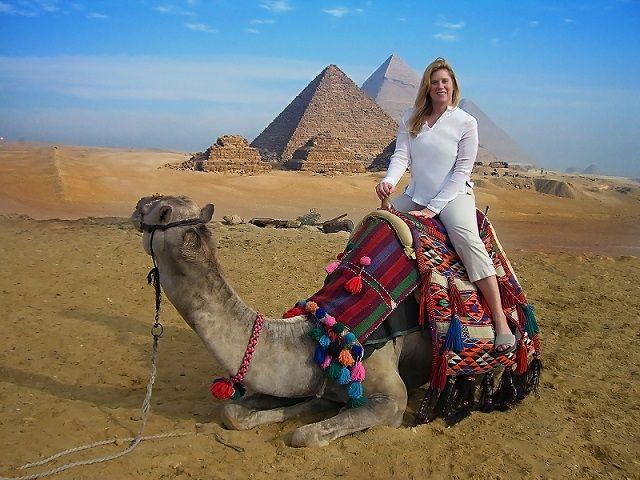 A Camel Ride around the Pyramids, Egypt