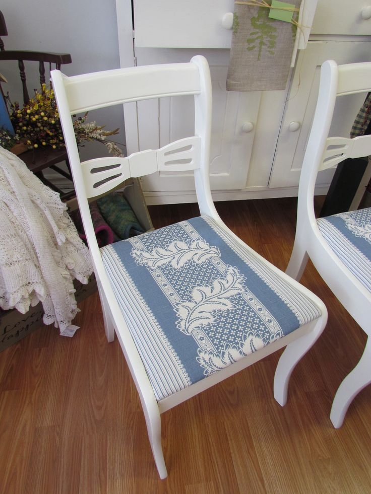 re-furbishing chairs ~ one of Susan's favourite things to do ~ these are sold however, watch for something similar in the shoppe soon :)  www.mariposadesign.ca