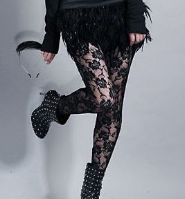 COLLANTS LEGGINGS DENTELLE LADY GAGA CELEBRITES U0001