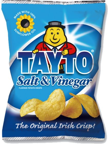 Food Ireland Tayto Salt & Vinegar 37g (1.3oz) 12 Pack