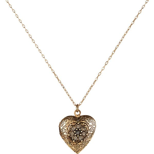 Accessorize Vintage Heart Locket Pendant Necklace ($12) ❤ liked on Polyvore featuring jewelry, necklaces, vintage lockets, heart locket necklace, heart locket, vintage necklace pendants and vintage necklaces