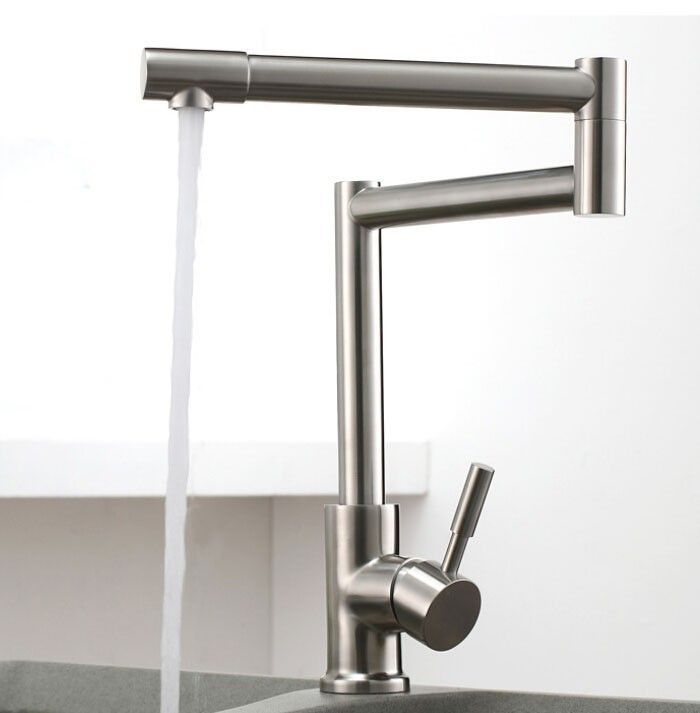 304 Stainless lead free brushed Kitchen Faucet,Deck Mounted Kitchen Mixer Tap,torneira de cozinha12-093