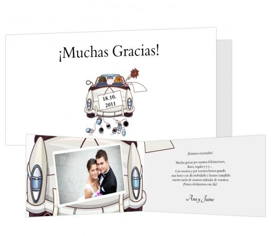 Has pensado en enviar tarjetas de agradecimiento para los asistentes a tu boda?