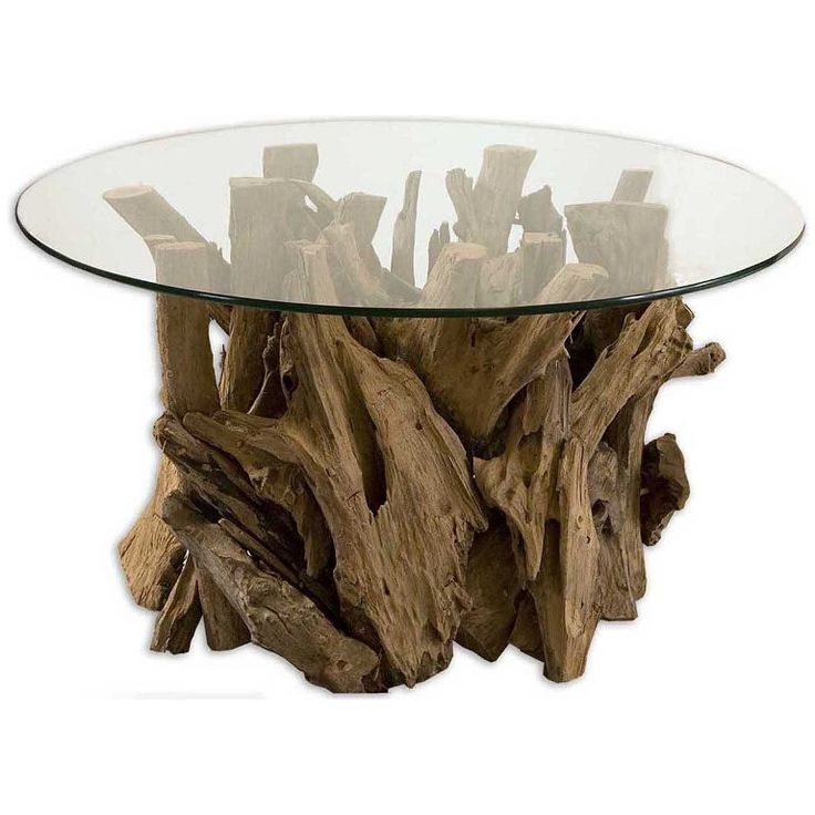 Furniture: Great Driftwood And Metal Coffee Table Also Natural Driftwood  Coffee Table From 4 Tips