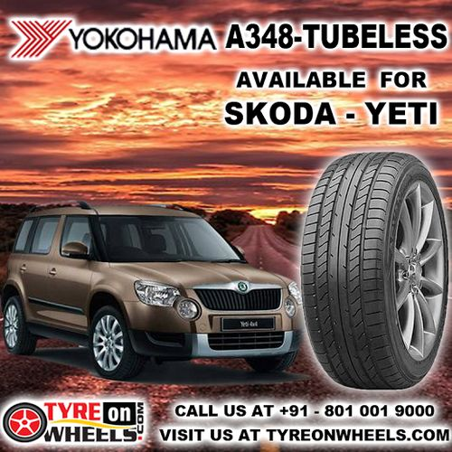 Buy Skoda Yeti Tyres Online of Yokohama A 348 Tubeless Tyres also get fitted with Mobile Tyre Fitting Vans at your doorstep at Guaranteed Low Prices buy now at http://www.tyreonwheels.com/tyres/Yokohama/A348-TUBELESS/561
