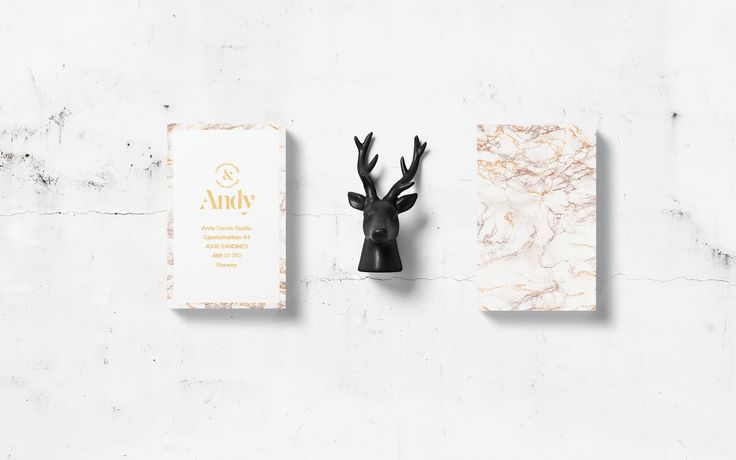 Brand Identity for A n d y. It is an elegant dance studio in Sandes, Norway. Classes are taught by the best coaches. Studio's basics are: marble, gold and class.