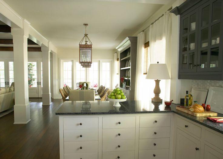 bold Ideas from Kohler: South Carolina Cottage Open Kitchen/ Dining/ Living Room
