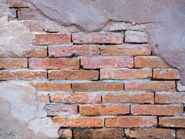 Brick Wall With Peeling Plaster Concrete ในป 2020