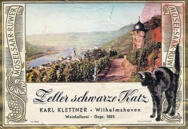 Zeller Schwarze Katz Vintage Wine Label