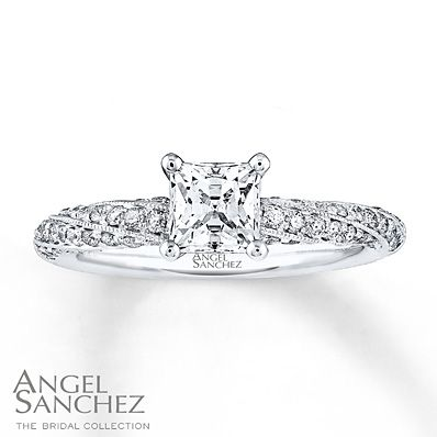 Angel Sanchez Ring 1 ct tw Diamonds 14K White Gold