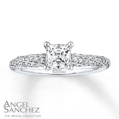 Angel Sanchez Ring 1 ct tw Diamonds 14K White Gold