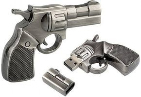 High Quality 16 GB Metal Gun shape USB Flash drive