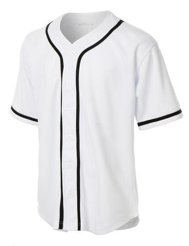 Gear up for baseball season in this active varsity short sleeve button down baseball jersey with patch. Its perfect for outdoors activities or weekend getaways. Looks great with just anything. Feature 55% Cotton / 45% Polyester Lightweight, soft material for comfort / Double stitching on sleeves and bottom hem / Button down closure Color block stripes for a sports inspired look American flag patch embroidered on left arm / 1 Left chest pocket with button closure Machine wa...