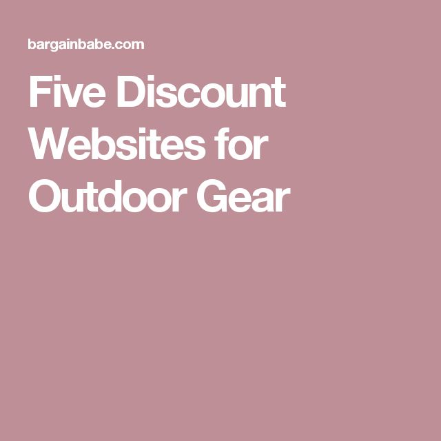 Five Discount Websites for Outdoor Gear