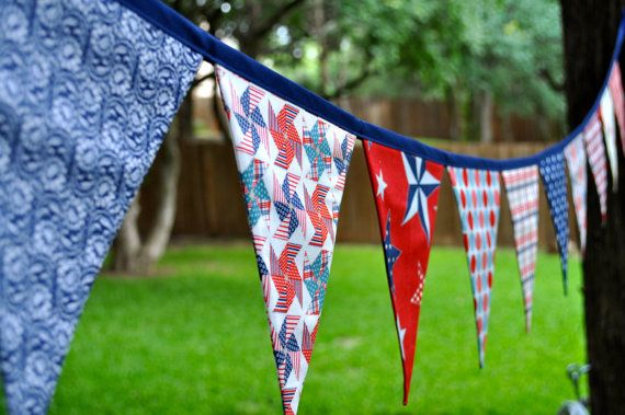 4th of july cloth bunting