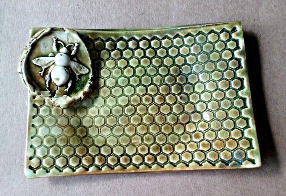 Isn't this handmade Ceramic Honey Bee Soap Dish just beautiful?! A great gift idea! #AD
