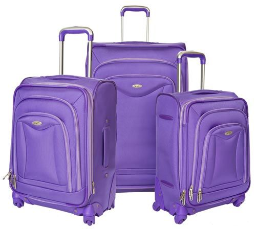 3-Piece Purple Luggage Set