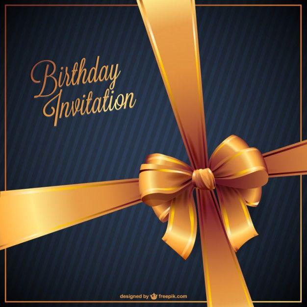 145 best birthday images on pinterest happy birthday greetings birthday invitation free vector stopboris Gallery