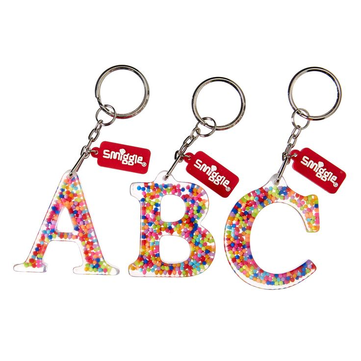 17 Best Images About Smiggle Letter Key Rings On Pinterest
