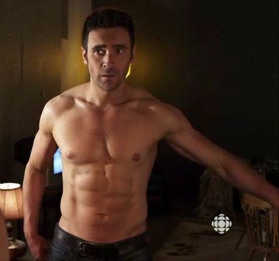 super fit Allan Hawco of Republic of Doyle
