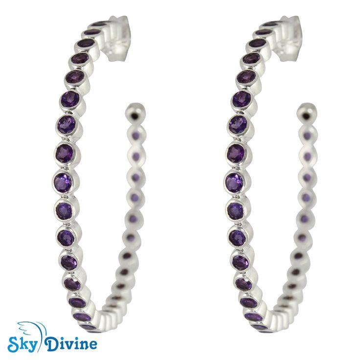 Sky Divine | 925 Sterling Silver amethyst Earring SDAER22b  Jewellery, $112.00 (http://www.skydivine.com.au/925-sterling-silver-amethyst-earring-sdaer22b-skydivine-jewellery/)