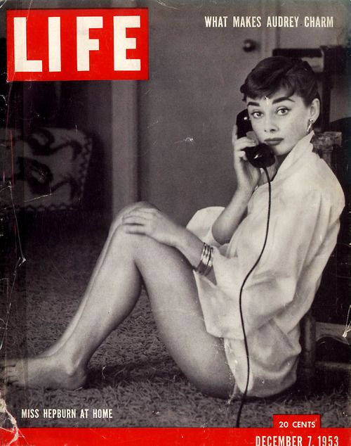 Audrey Hepburn on the cover of Life Magazine.