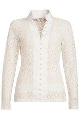 Anna - Kanten blouse met parelknoopjes #trend #kant #SS16