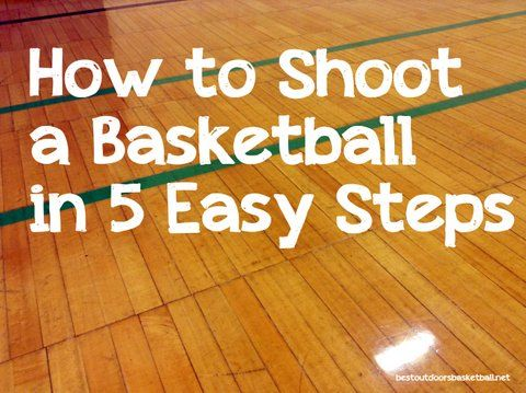 How to shoot a basketball in five steps.  Become a better shooter!