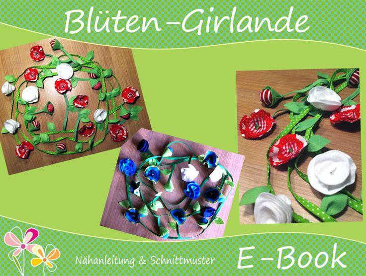 """E-Book ♥ Nähanleitung GIRLANDE """"Blumen"""" von ♥ SchönSchnitt ♥ auf DaWanda.com"""