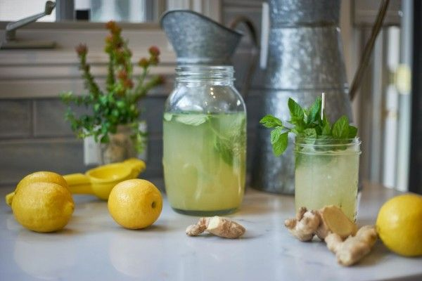 Haylie Duff's Ginger Mint Lemonade