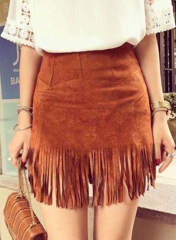 Boho Fringe Skirt                                                                                                                                                      More