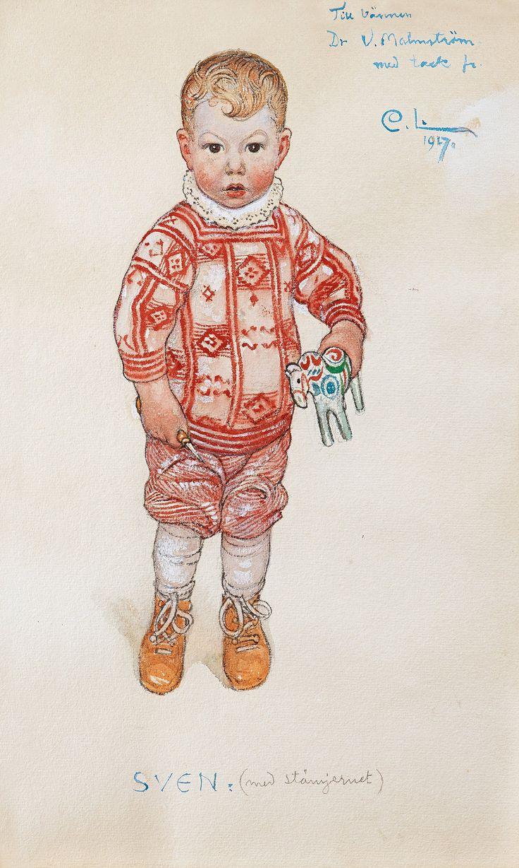 Carl Larsson - Sven med stämjärnet (with the chisel) 1917 https://www.bukowskis.com/en/auctions/580/623-carl-larsson-sven-med-stamjernet