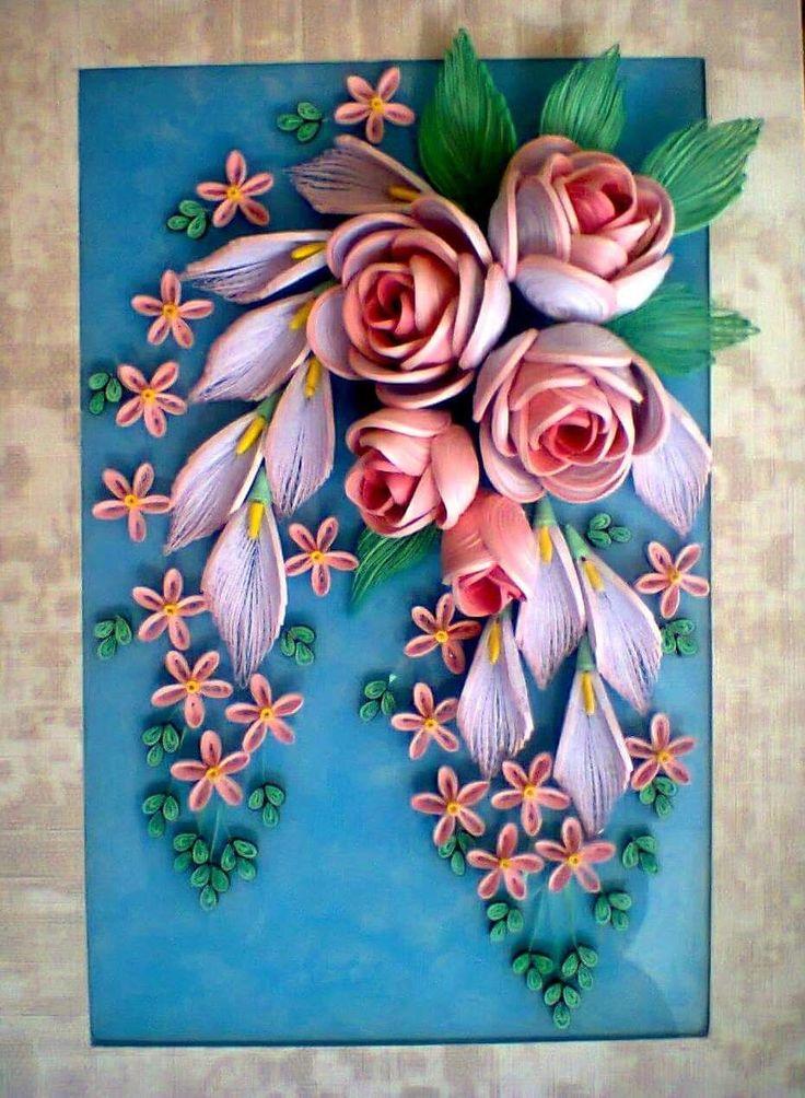 Объемные цветы для открыток и плакатов