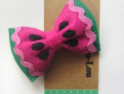 Felt Watermelon Bow Hairclip