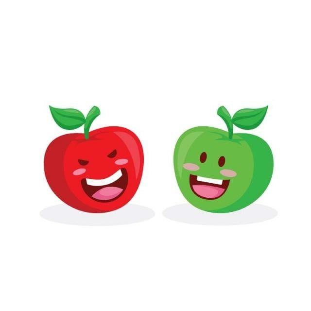 Healthy Happy Organic Red And Green Apple Character Illustration Fruit Juice Nutrition Png And Vector With Transparent Background For Free Download Watercolor Flower Illustration Character Illustration Flower Illustration