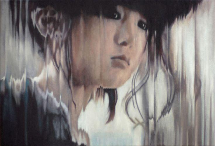 woman (Japanese),2011  oil on corduroy,95x65 cm