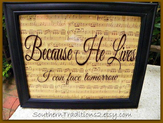 sheet music glass photo frame, love the idea of having favourite hymn lyrics or verse framed like this