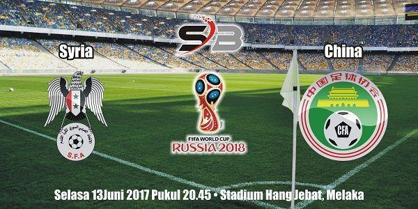 Prediksi Bola Syria vs China 13 Juni 2017