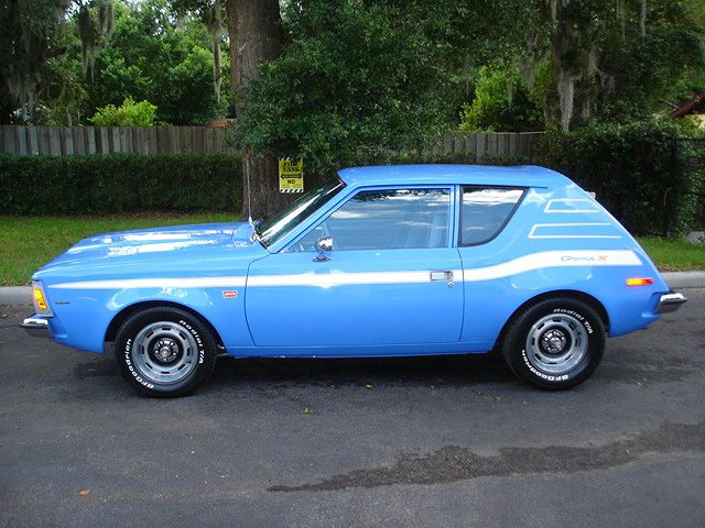 1973 gremlin x with blue jean interior. I had the identical car but a 75. Souped it up for racing out Behind Slacks Warehouse and in the Woods of Shreveport La.!
