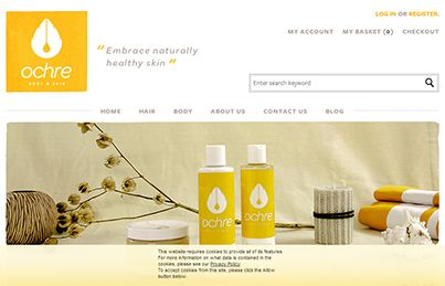 A new website has been submitted to our directory:  Name: Ochre Body and Skin, Category: Health & Beauty, Link: http://ochrebodyandskin.com,