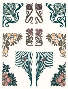 art nouveau tattoo design - Google Search