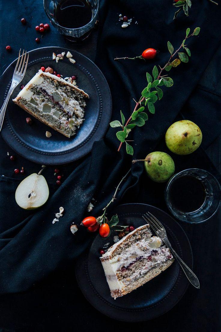 glutenfree pumpkin pancakes, a glutenfree pear-lingonberry cake