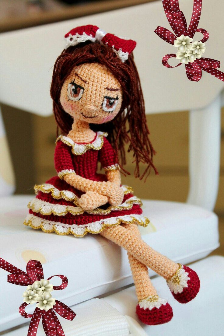 Pretty crochet doll