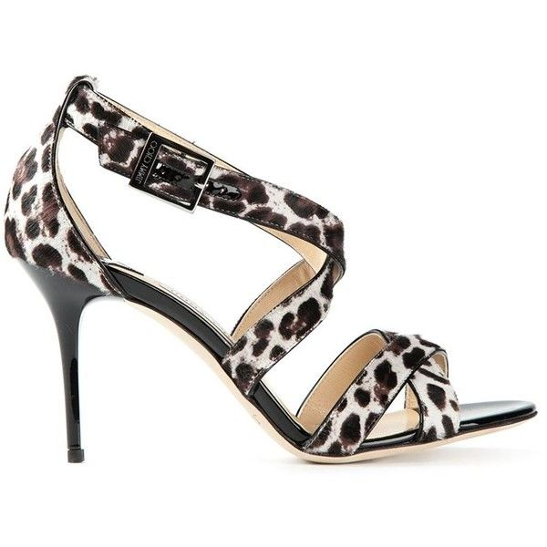 Jimmy Choo Lottie Leopard Print Sandals found on Polyvore