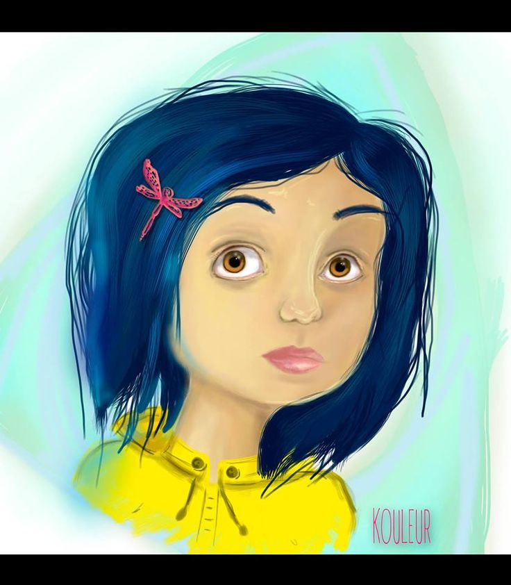 #coraline #illustration #kouleur #girl #dreams #photoshop