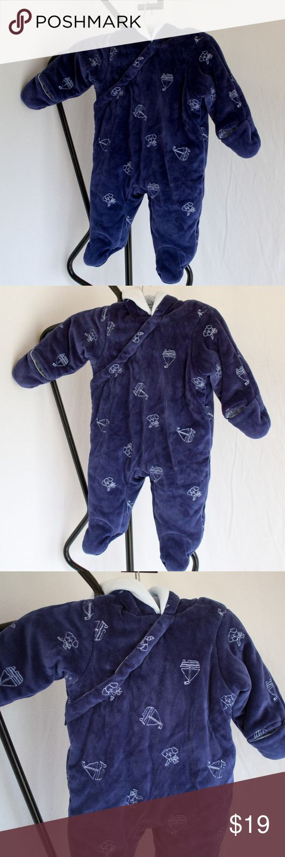 First Impressions Nautical Baby Bunting Size 36M