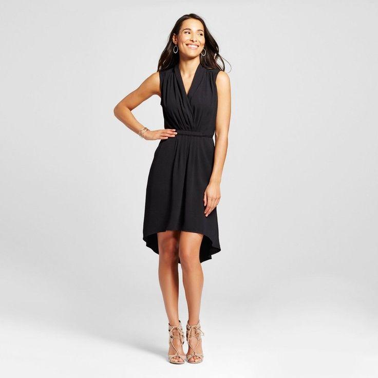 Women's High Low Dress Black Xxl - Merona