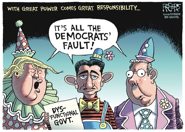 """... Says the dynamically dysfunctional """"leadership"""" trio of the hopelessly inept Republican party!!"""